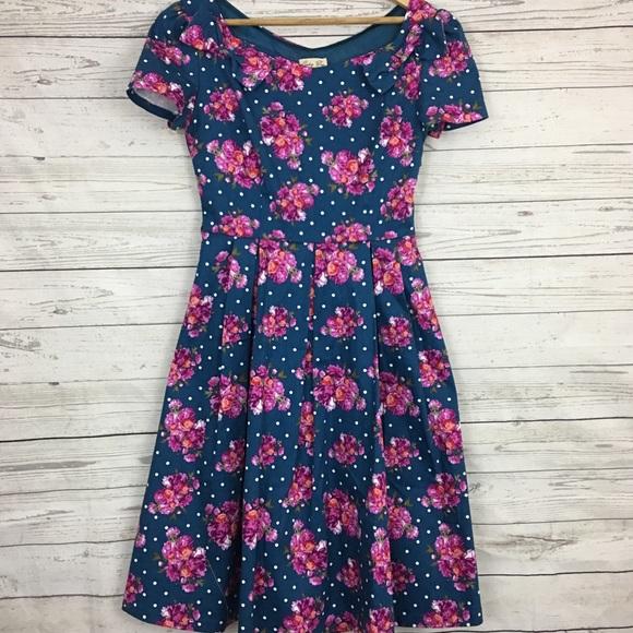 3bafa91a631c lindy bop Dresses & Skirts - Lindy Bop polka dot roses floral pinup 50s  dress